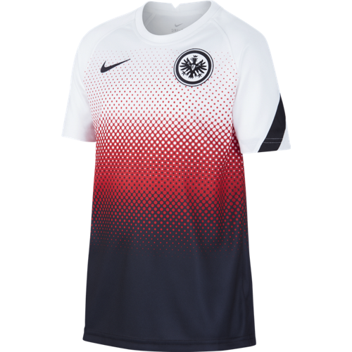 Eintracht Frankfurt Kinder Pre-Match Short-Sleeve Soccer Top 2020/2021